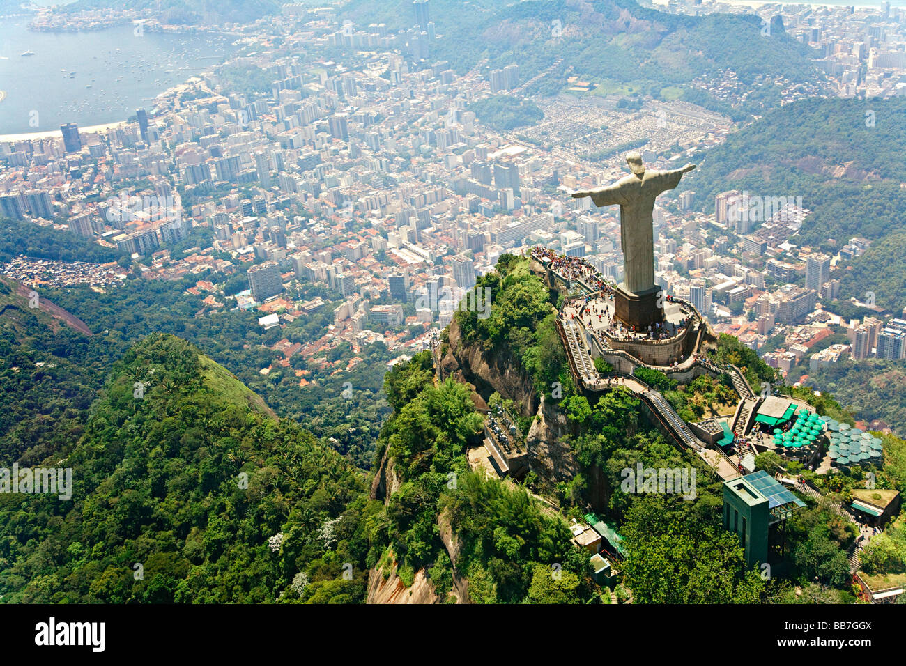 Christ the Redeemer on Corcovado Mountain Rio de Janeiro Brazil Stock Photo