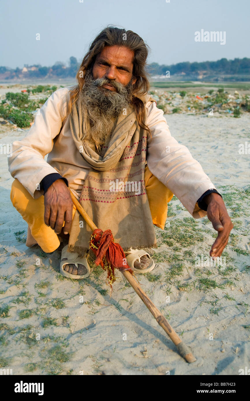 Sadhu, holy man, North India, India, Asia Stock Photo