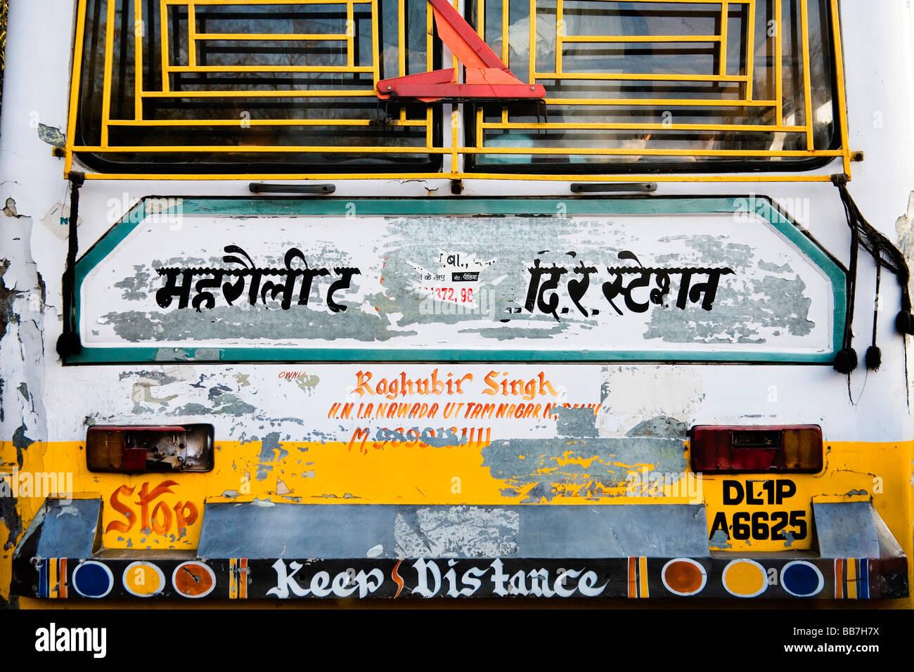 Indian bus, North India, India, Asia Stock Photo