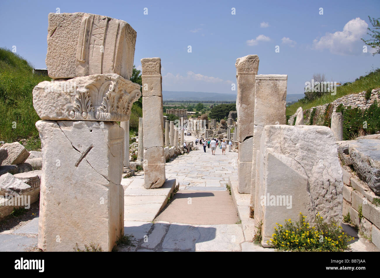 Gate of Hercules, Ancient City of Ephesus, Selcuk, Izmir Province, Turkey - Stock Image