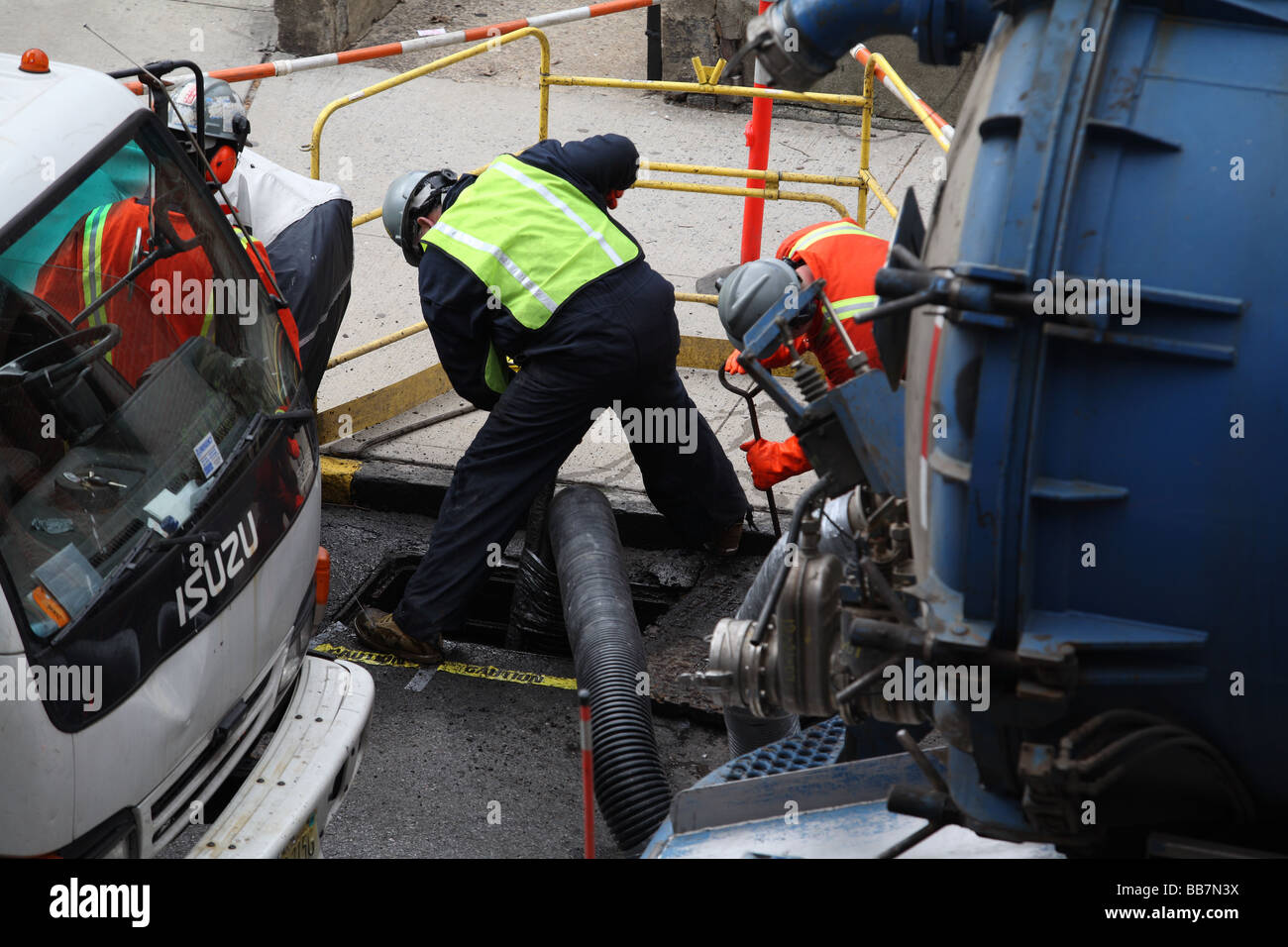 Sewer Cleaners - Stock Image