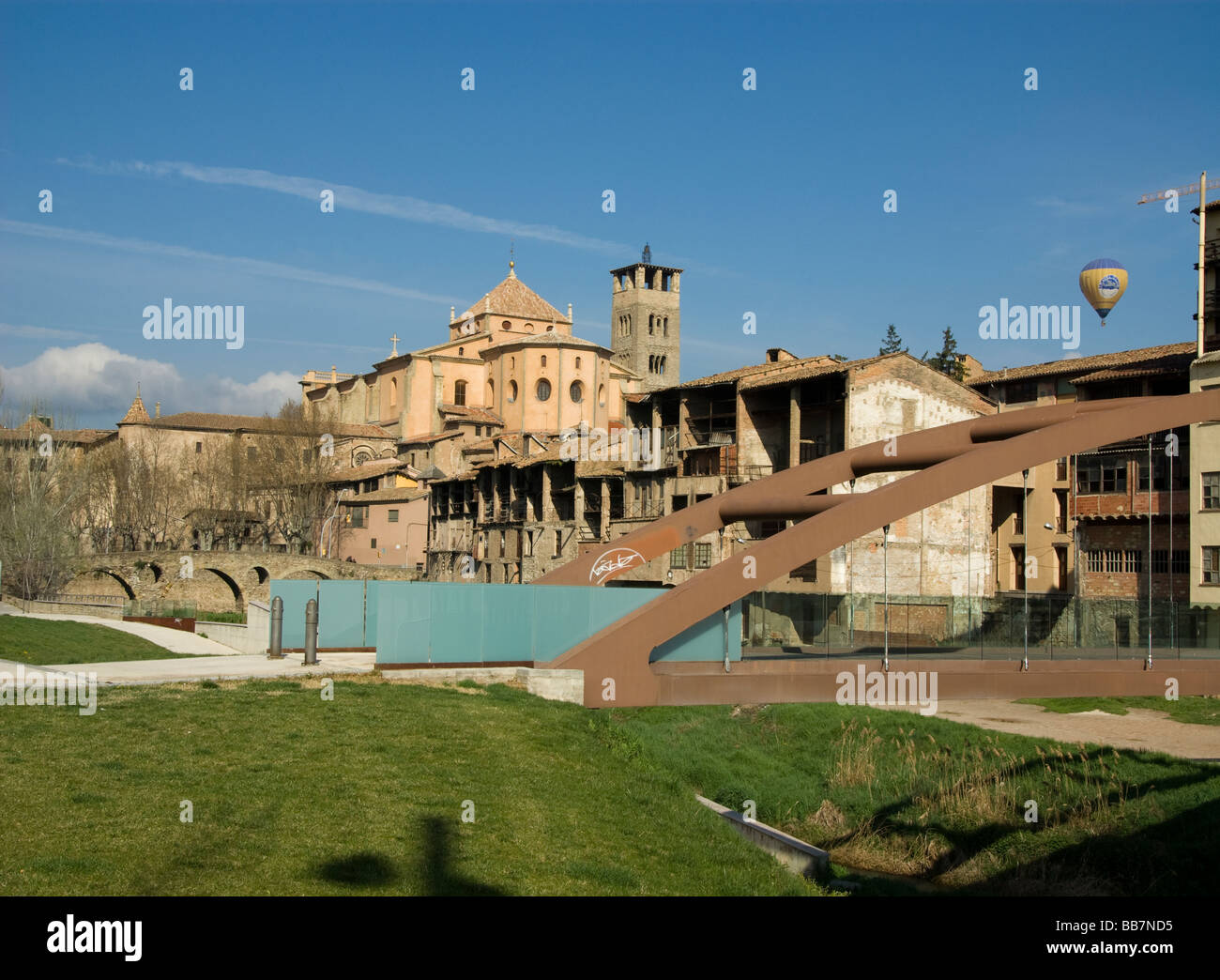 Spain.Vic.Old Town. - Stock Image
