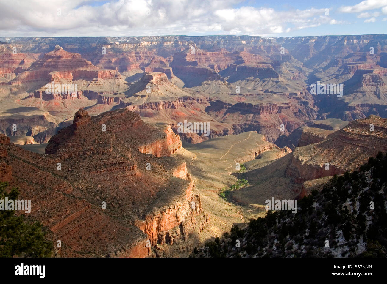 South Rim view of the Grand Canyon Arizona USA - Stock Image
