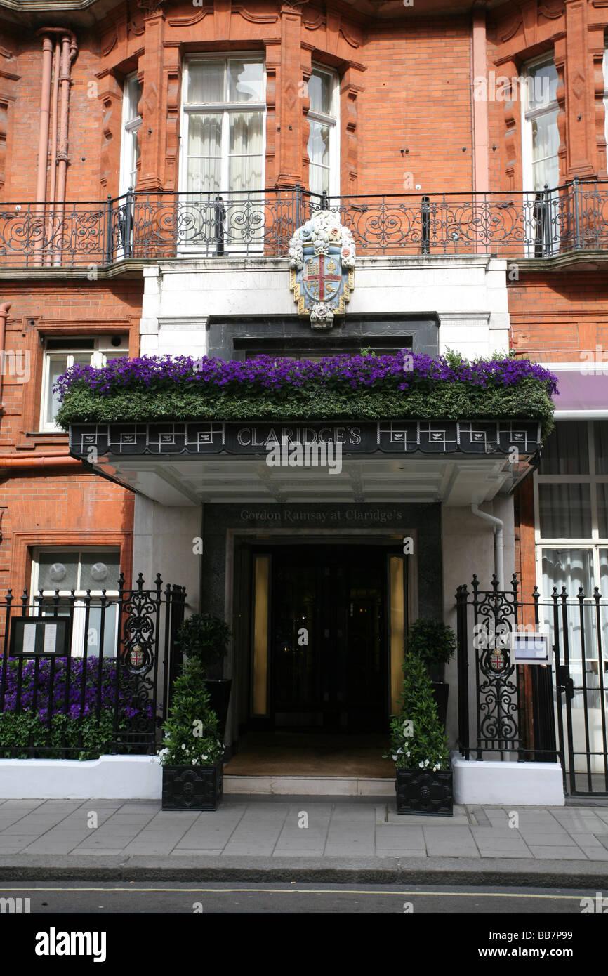 Gordon Ramsay Restaurant Claridges Mayfair Central London Stock