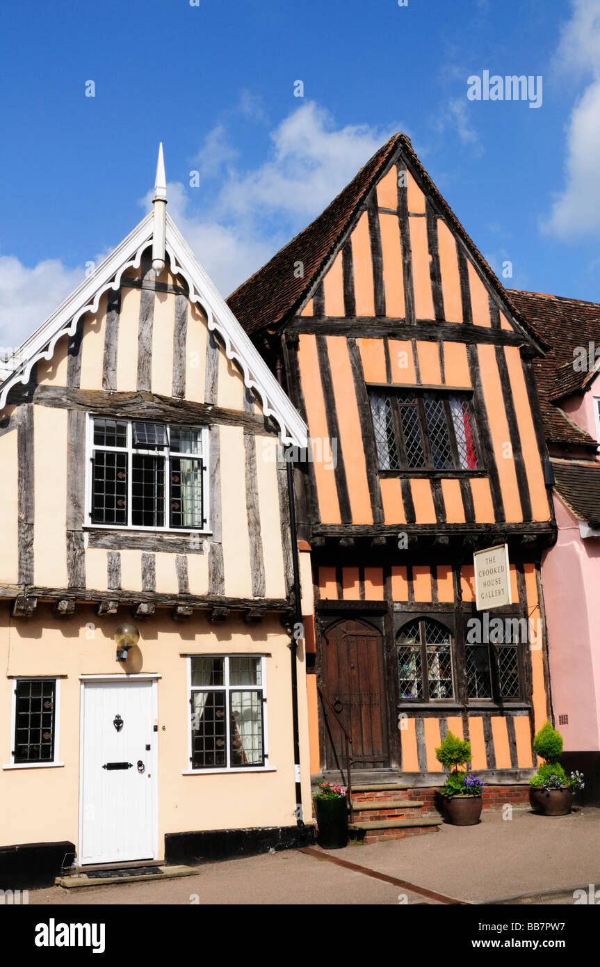 The Crooked House Gallery Lavenham Suffolk England Uk - Stock Image