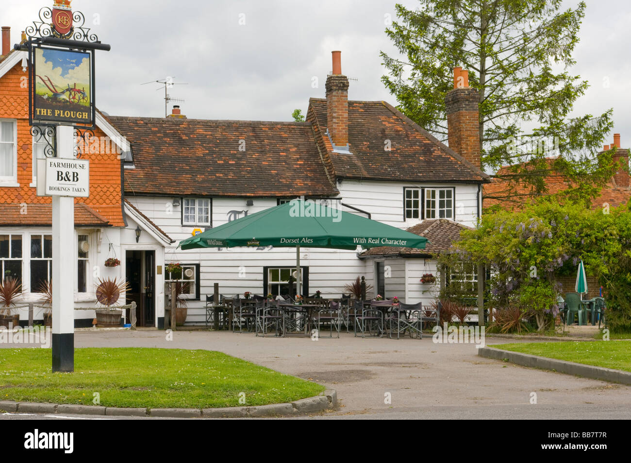 The Plough Public House Leigh Surrey - Stock Image