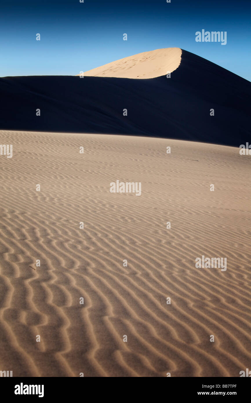 Sand patterns on The Eureka Dunes in Death Valley National Park in California USA Stock Photo