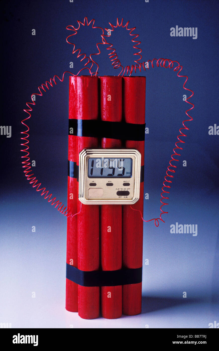 Sticks of dynamite with timer - Stock Image