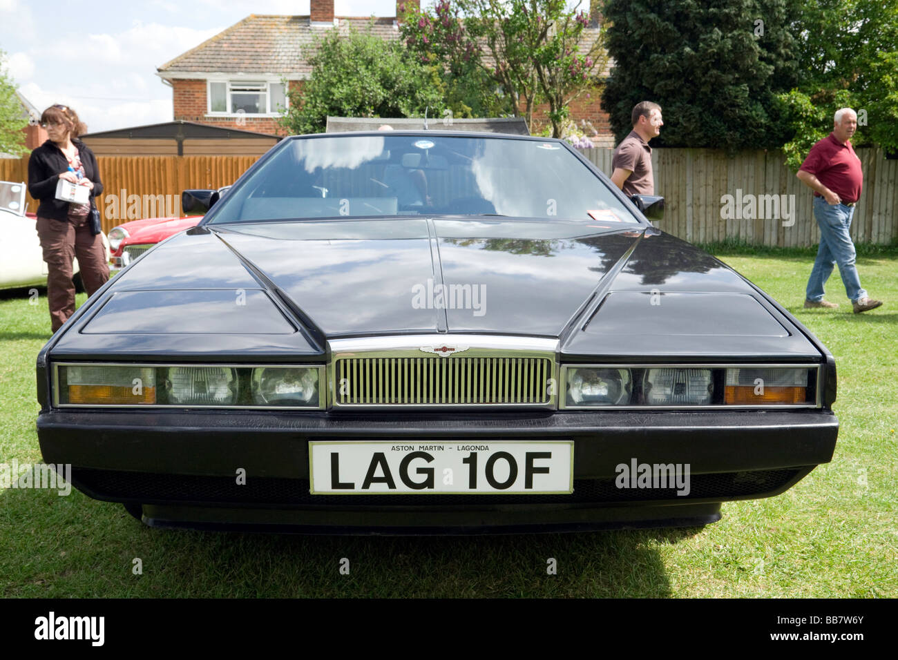 Aston Martin Lagonda Classic car, Wallingford Classic Car rally, Oxfordshire, UK - Stock Image