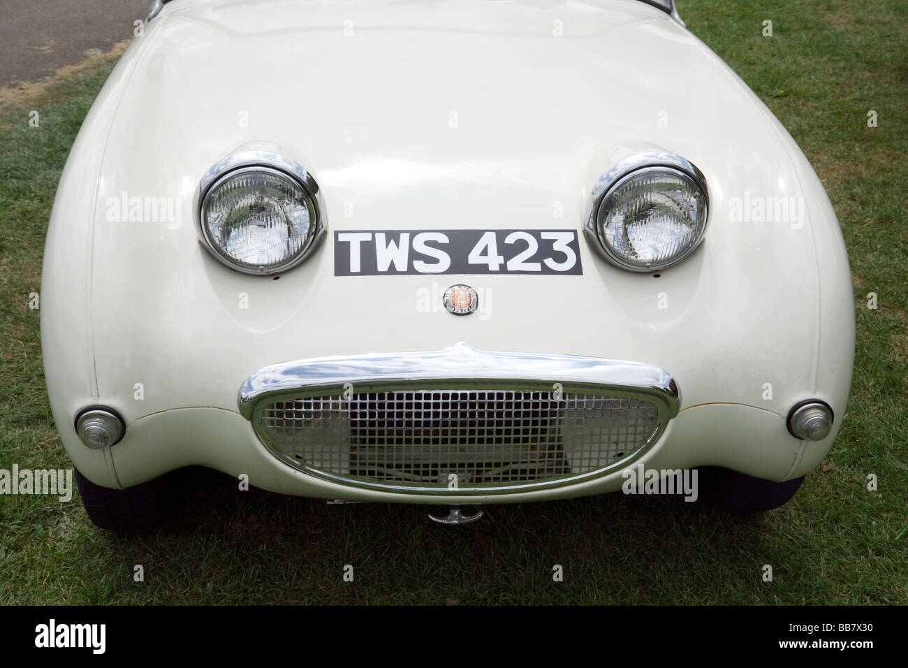 Austin Healey Sprite, also known as 'frogeye' or 'bugeye', Wallingford Classic Car rally, Oxfordshire, - Stock Image