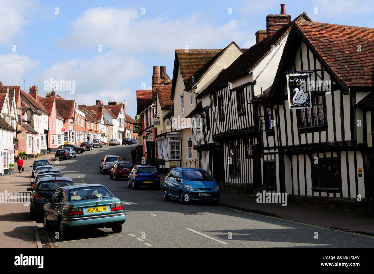 Village of Lavenham Suffolk England UK - Stock Image