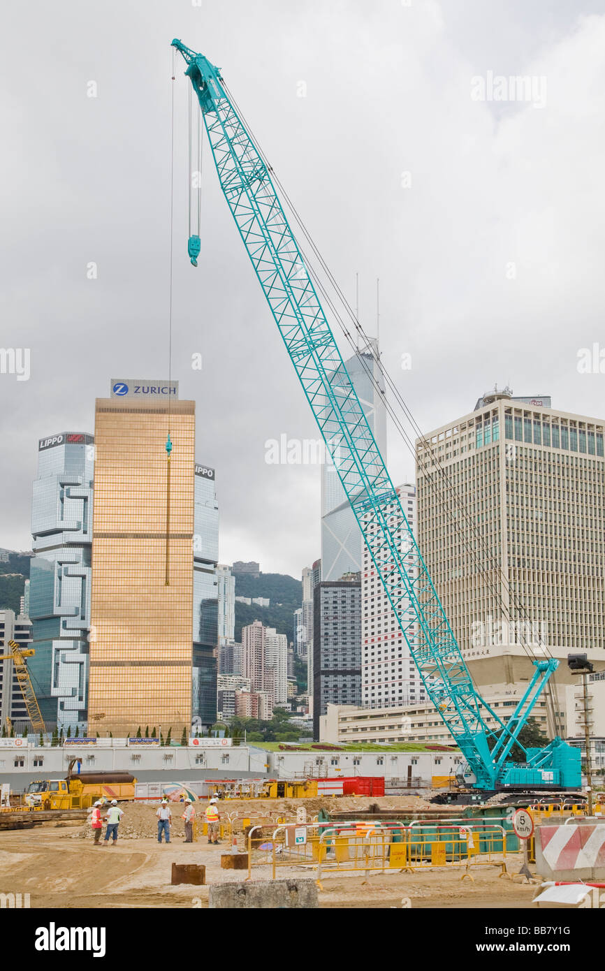 Hong Kong Harbour Reclamation - Stock Image