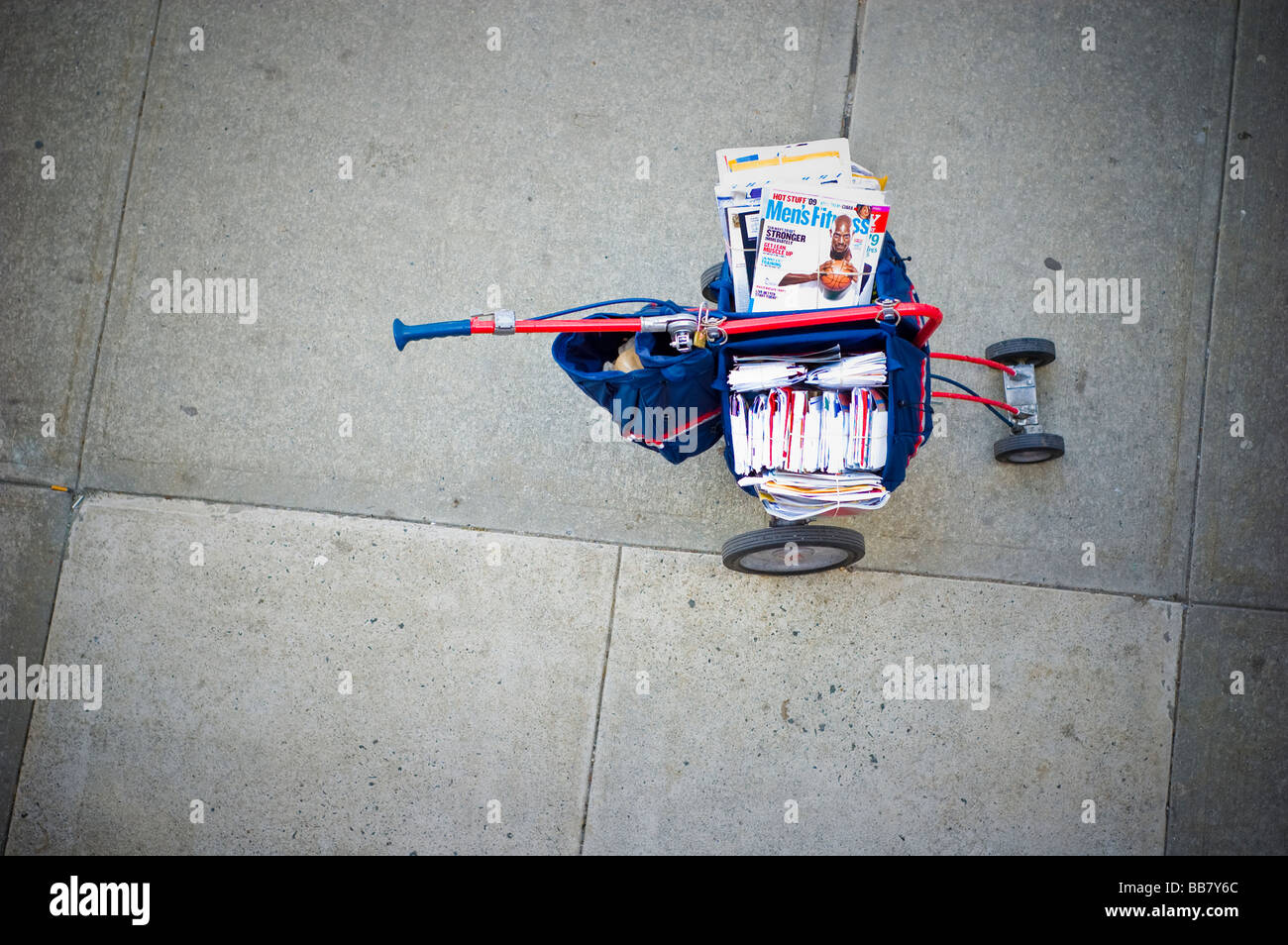 United States Postal Service (USPS) Mail Deliver Cart, High Angle View (For Editorial Use Only) - Stock Image