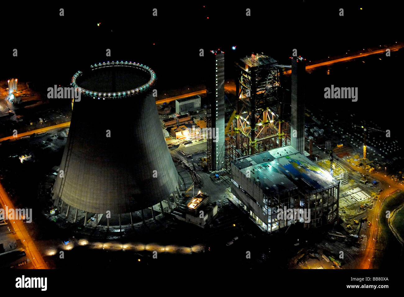 Aerial Photo Coal Fired Power Plant Building Site Eon Plant Stock