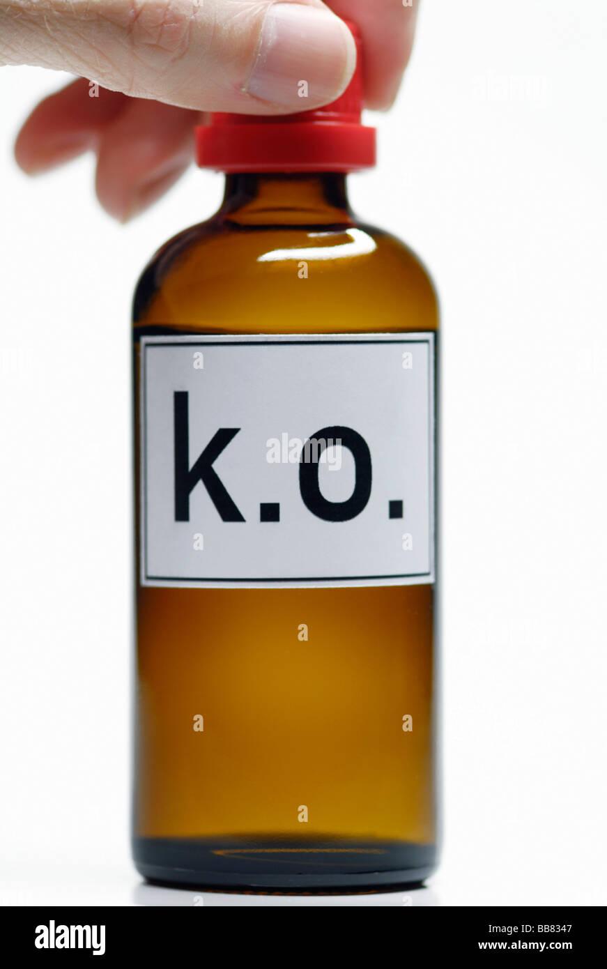 K.o. drops, knock out drops Stock Photo