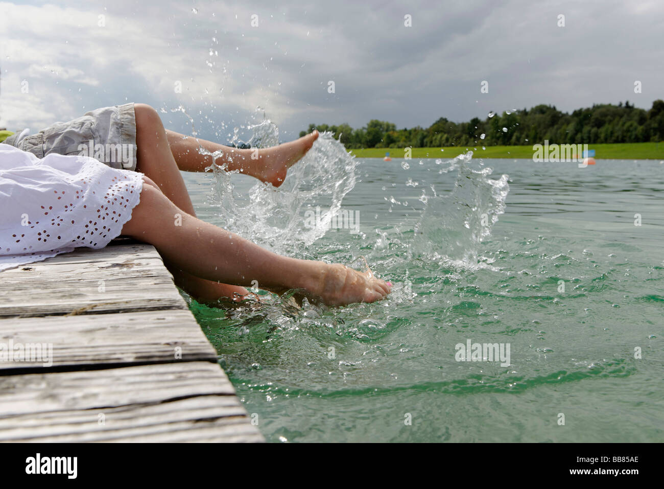 Regatta area for Rowing races, Olympic games 1972, Oberschleissheim, Munich, Upper Bavaria, Germany, Europe - Stock Image