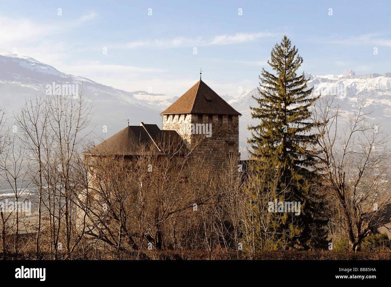 Vaduz Castle, Vaduz, Liechtenstein principality, Europe - Stock Image