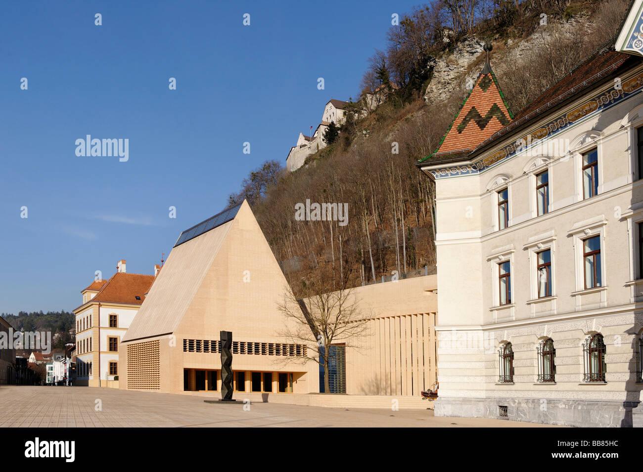 Government building, Vaduz, Liechtenstein principality, Europe Stock Photo