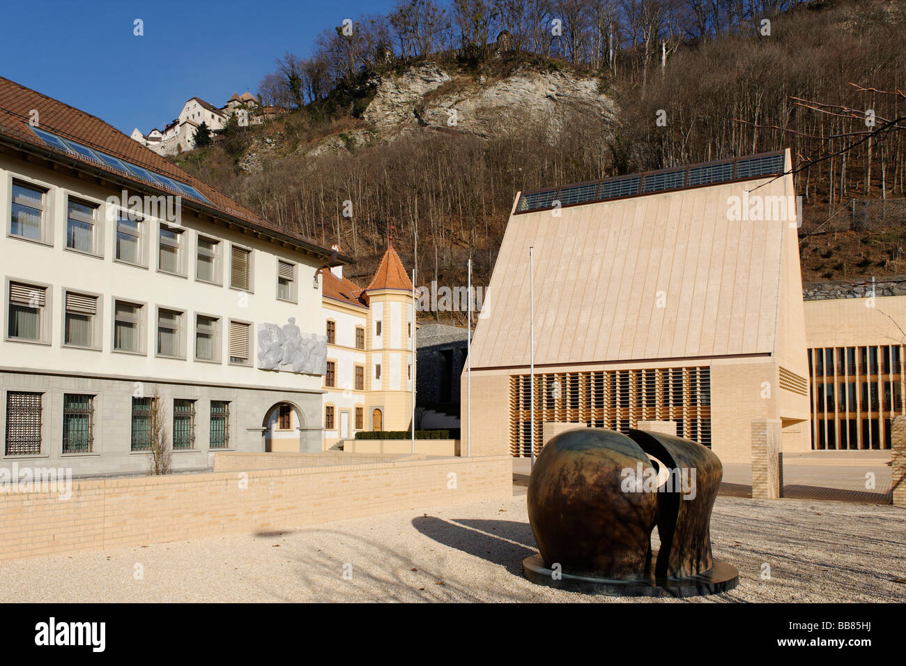Government building, Vaduz, Liechtenstein principality, Europe - Stock Image