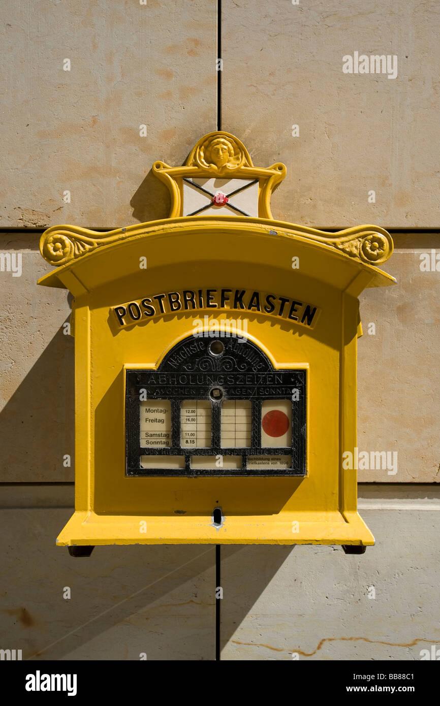 Mail box, Dresden, Saxony, Germany, Europe Stock Photo