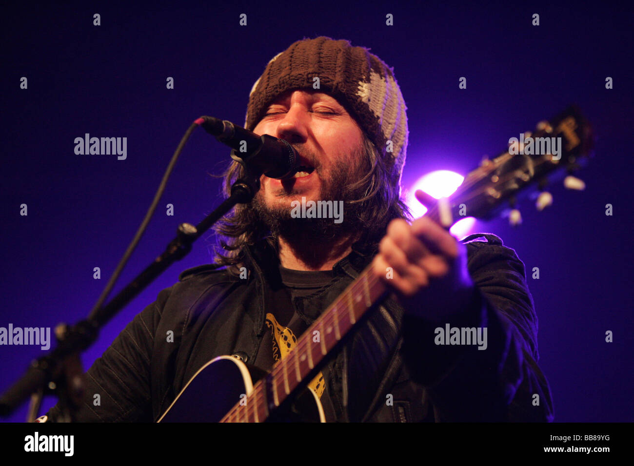 British singer und songwriter Badly Drawn Brown performing live at the Blue Balls Festival at KKL, Culture and Convention - Stock Image
