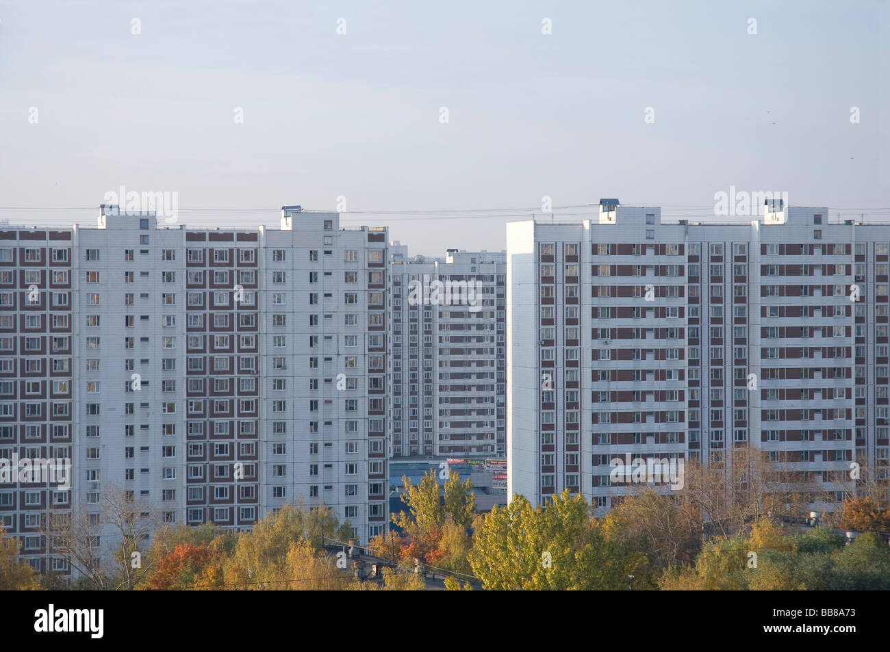 apartments moscow russia. high rise apartments in south moscow russia Stock Photo  24155239