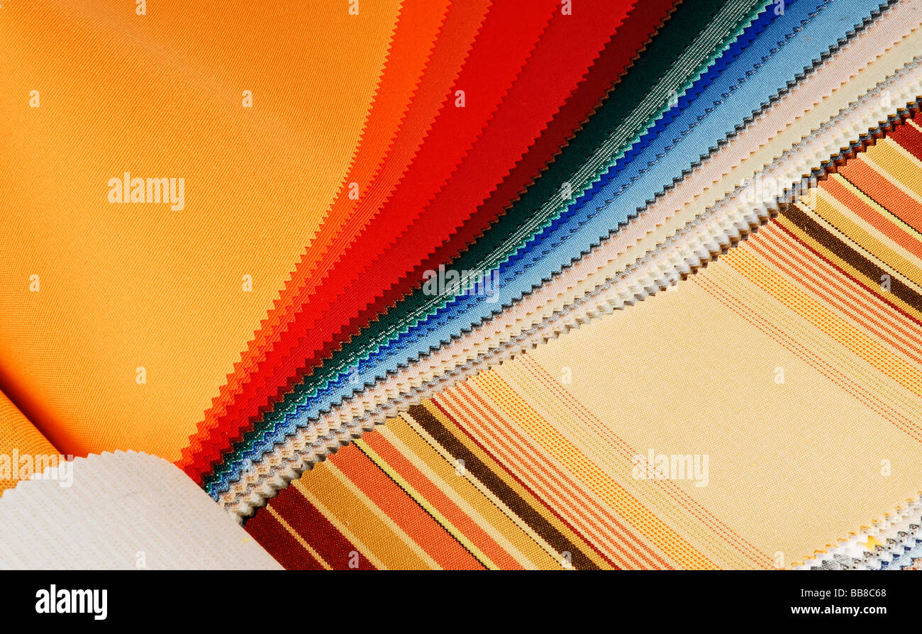 Cloth, swatches - Stock Image