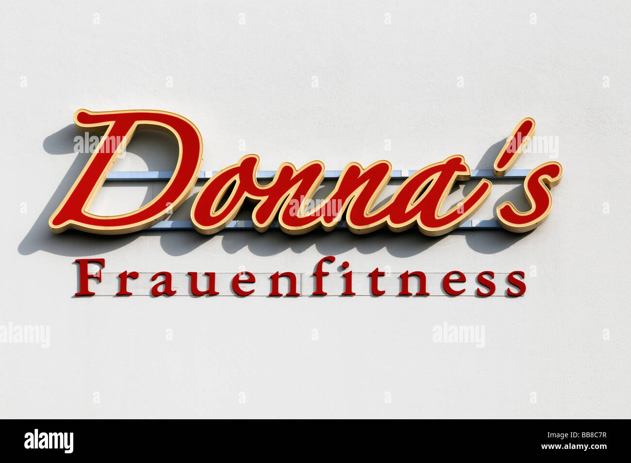 Logo 'Donna's Frauenfitness', German women's fitness chain - Stock Image