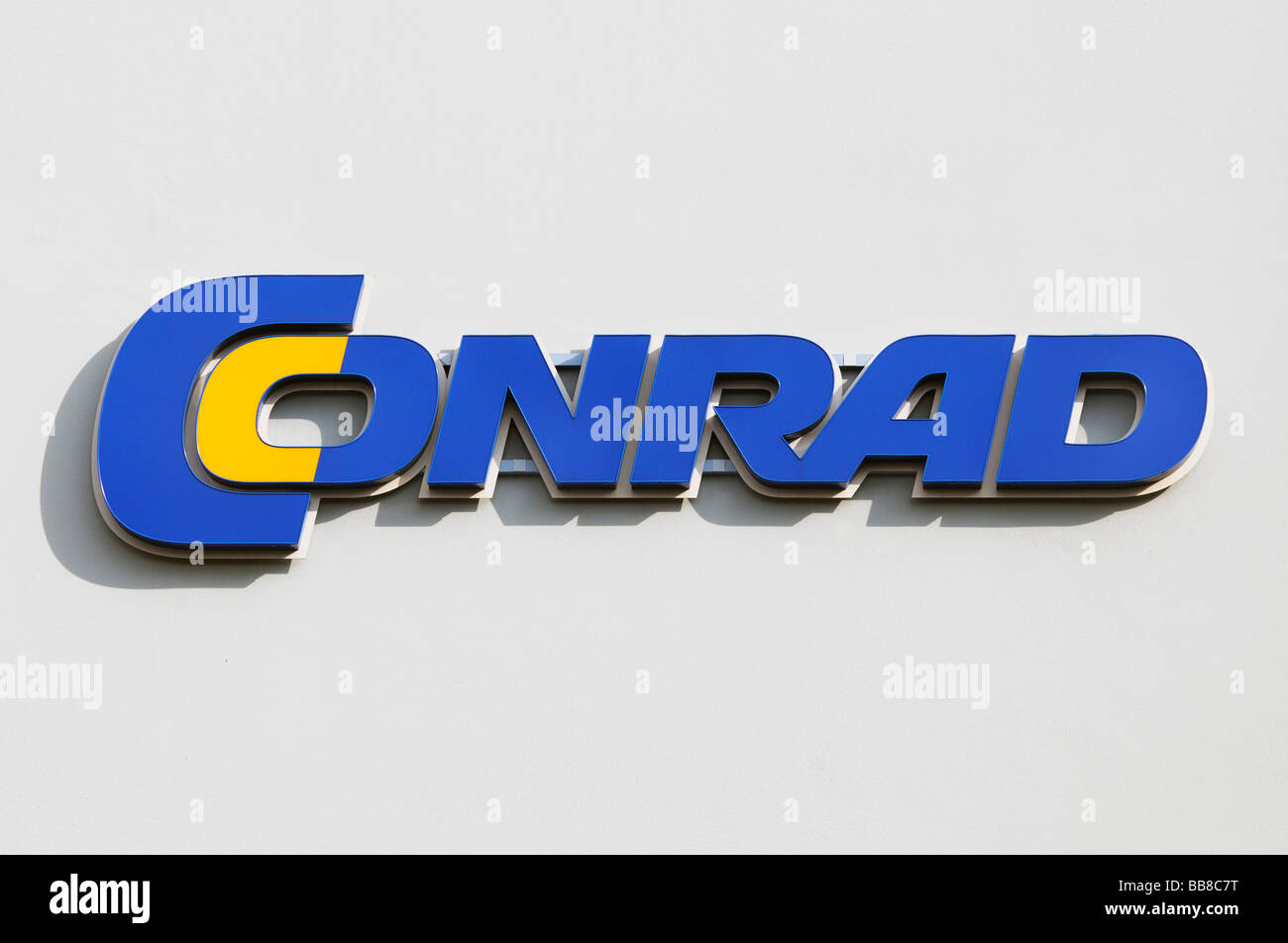 Logo, Conrad, electronics store chain - Stock Image