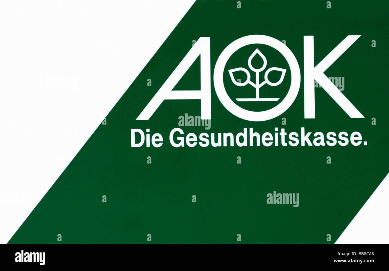 AOK Die Gesundheitskasse health insurance, logo, full-frame - Stock Image