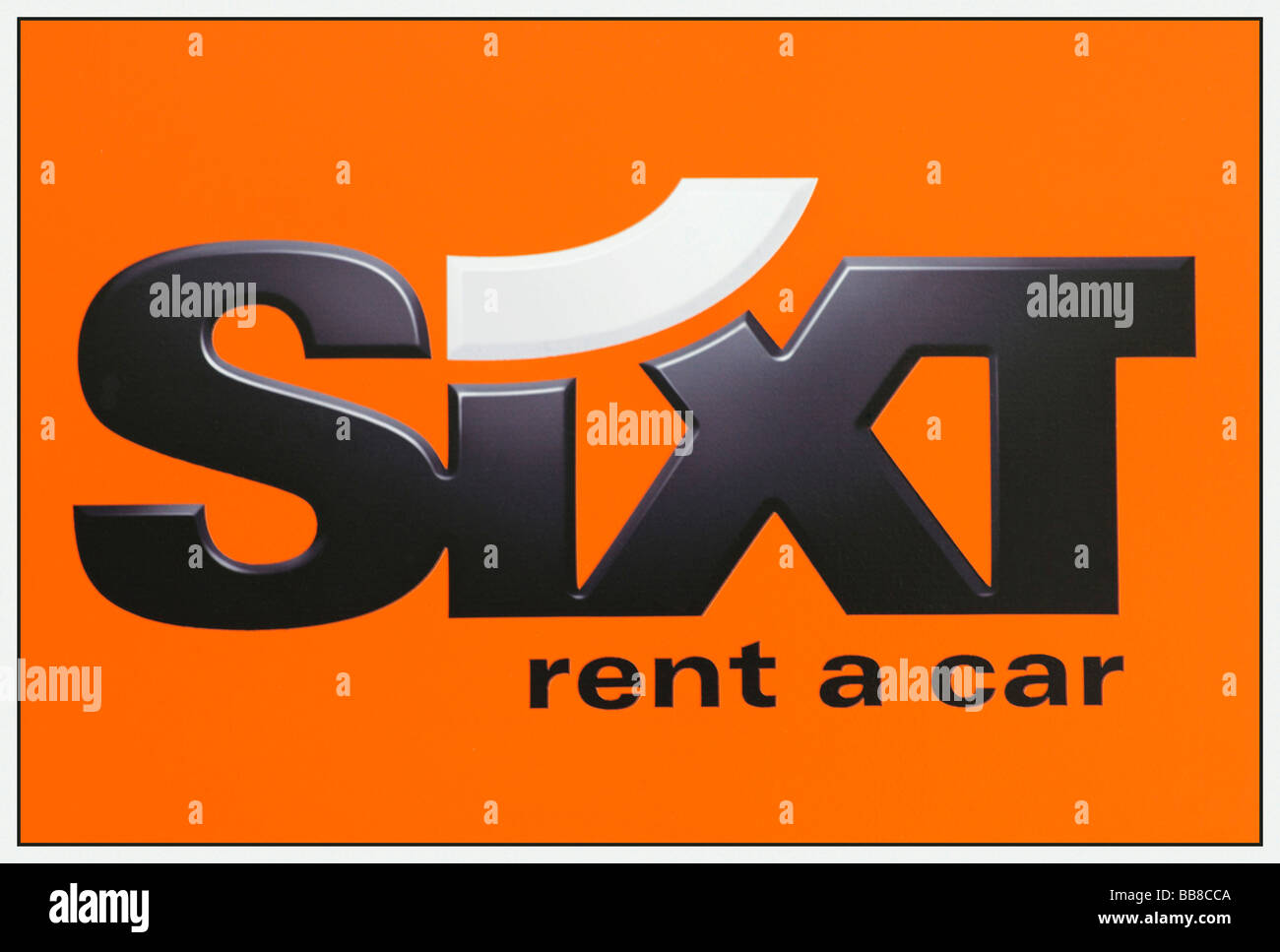 Logo of the car rental agency Sixt, rent a car - Stock Image