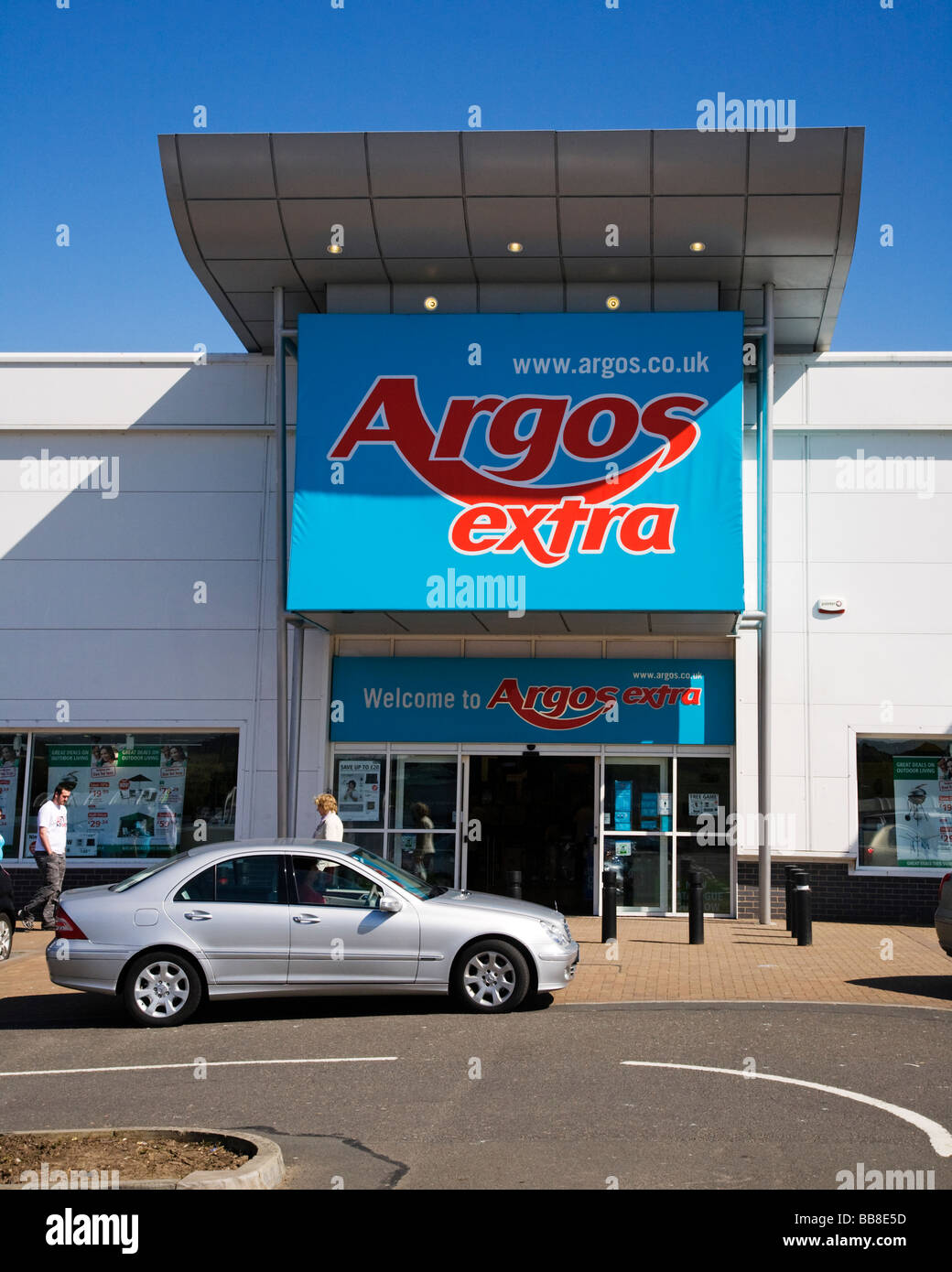 Entrance to the Argos Extra store at Dumbarton, West Dumbartonshire, Scotland. - Stock Image
