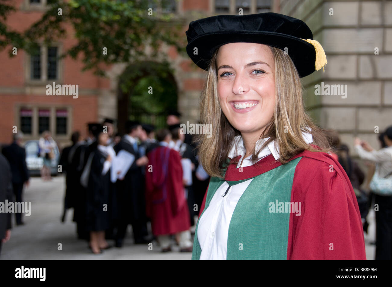 University student in Doctorate graduation gown Stock Photo ...