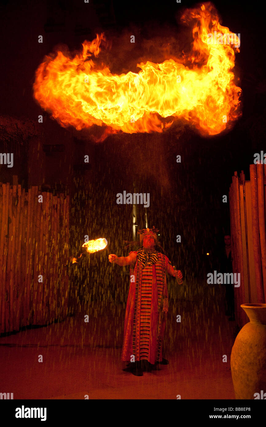 Fire-breather - Stock Image