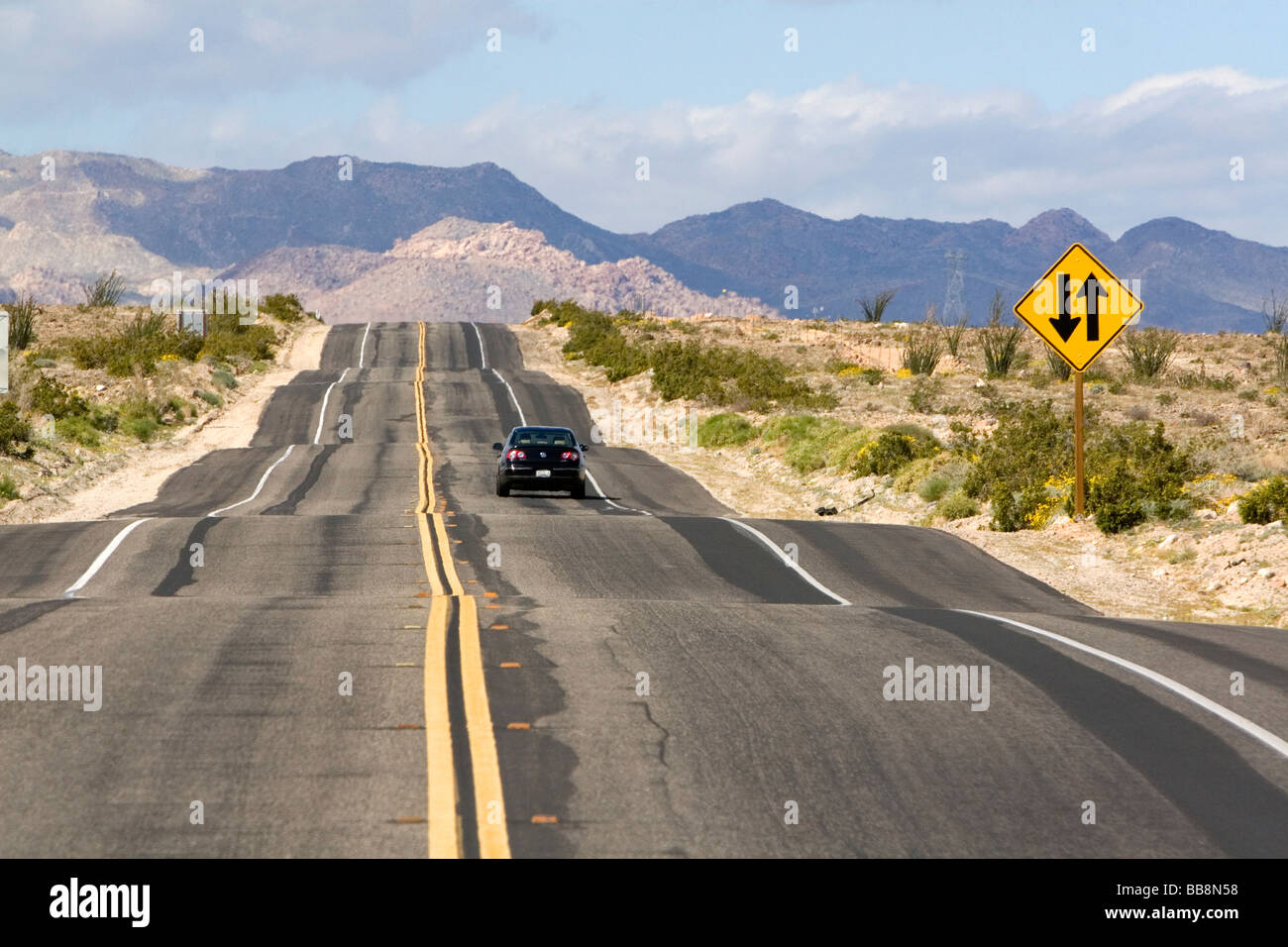 California Highway 98 near the Mexico border in Imperial County Southern California USA  - Stock Image