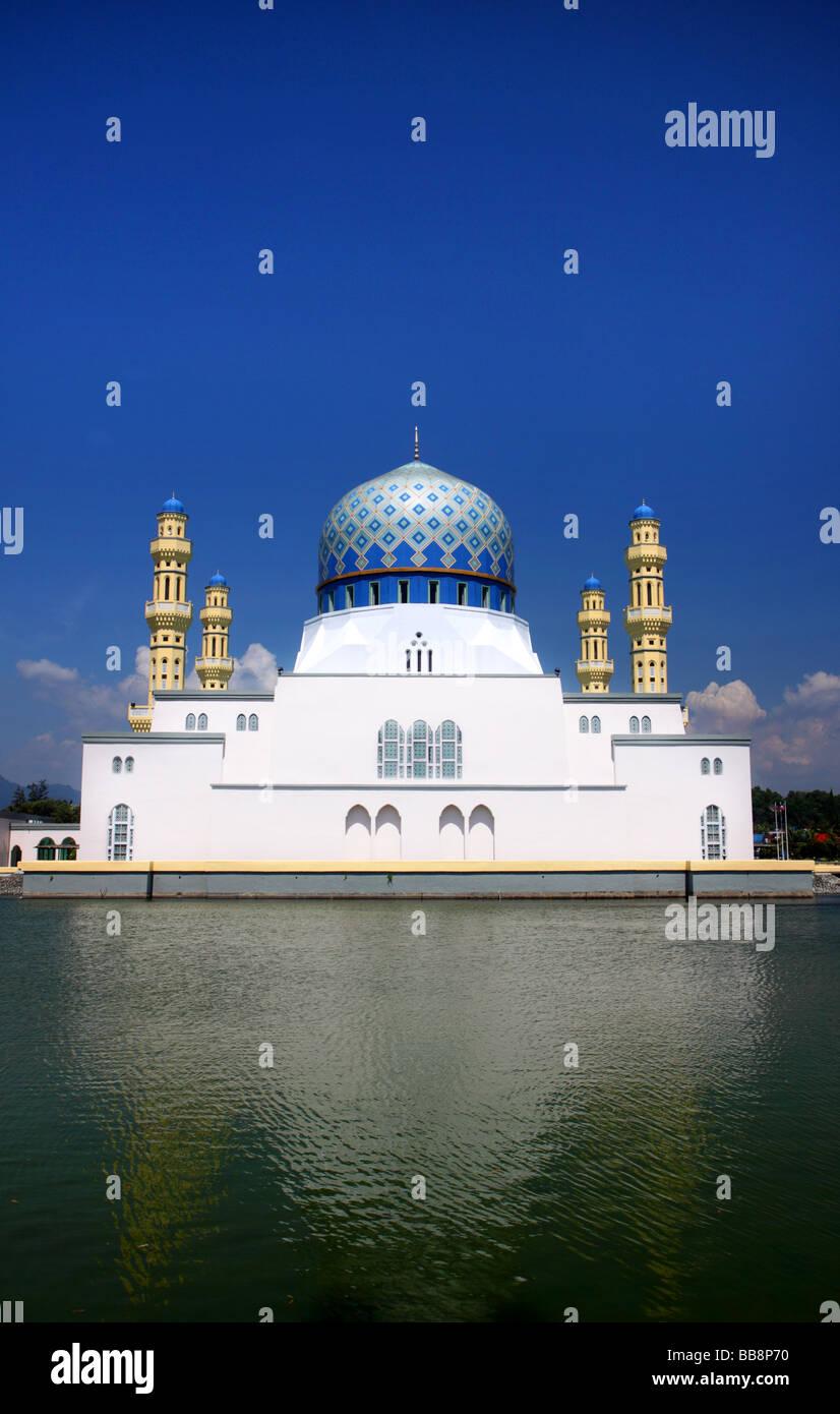 Likas Floating Mosque Kota Kinabalu Malaysia Asia - Stock Image