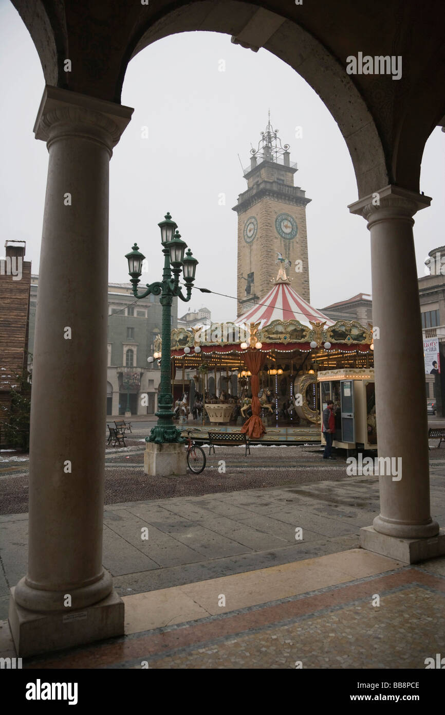 Carousel, Bergamo, Lombardy, Italy, Europe Stock Photo