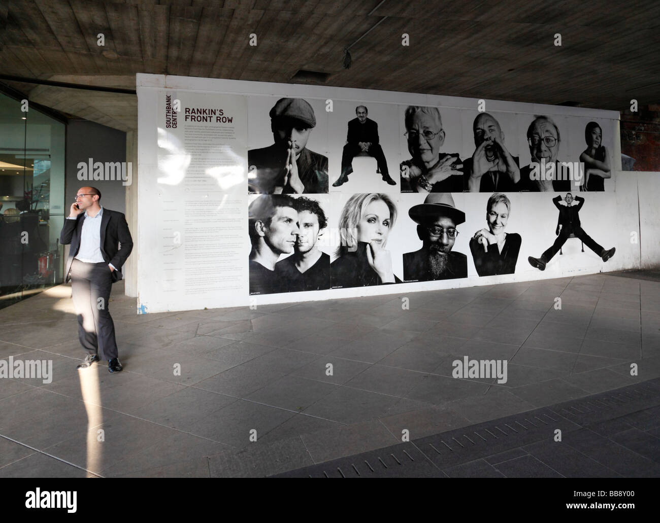 Southbank Centre, Rankins Front row poster. South Bank, London, England, UK. - Stock Image