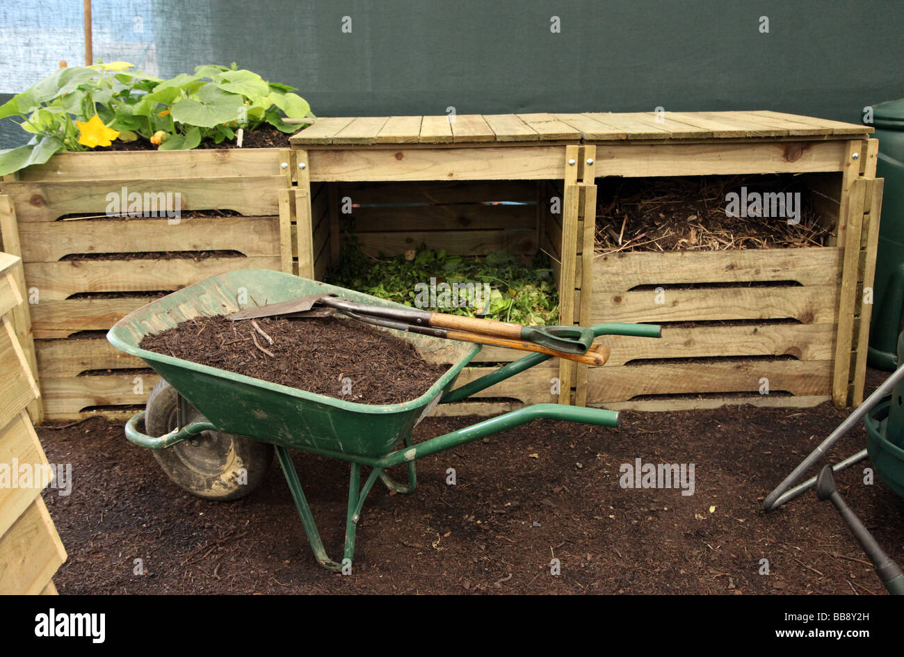 Horticulture Gardening Compost Heaps Stock Photos & Horticulture ...