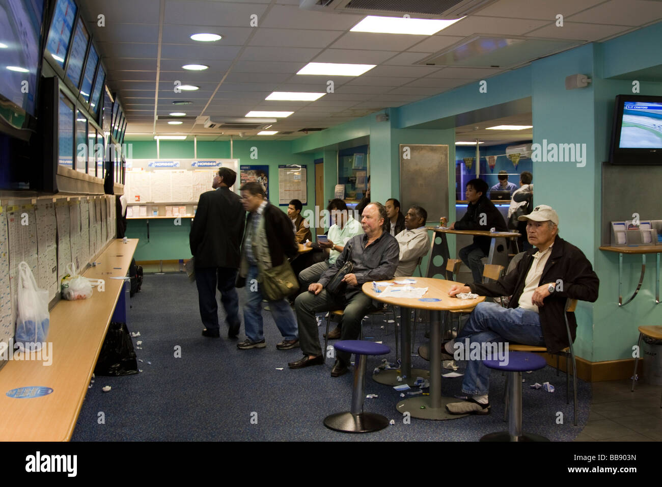 Betting Shop - Chinatown - London - Stock Image