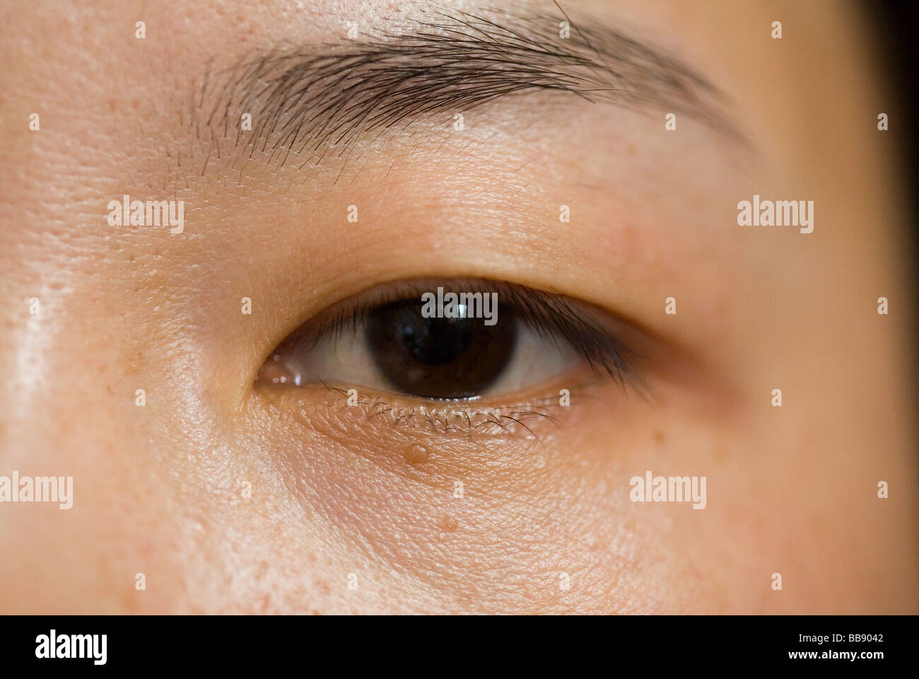 Zhao Yan, 27, a nurse, is about to have a plastic surgery operation to give her double eyelids. - Stock Image