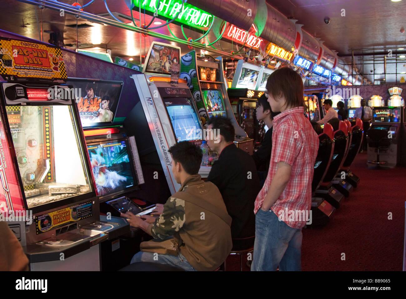 Games arcade Soho London - Stock Image