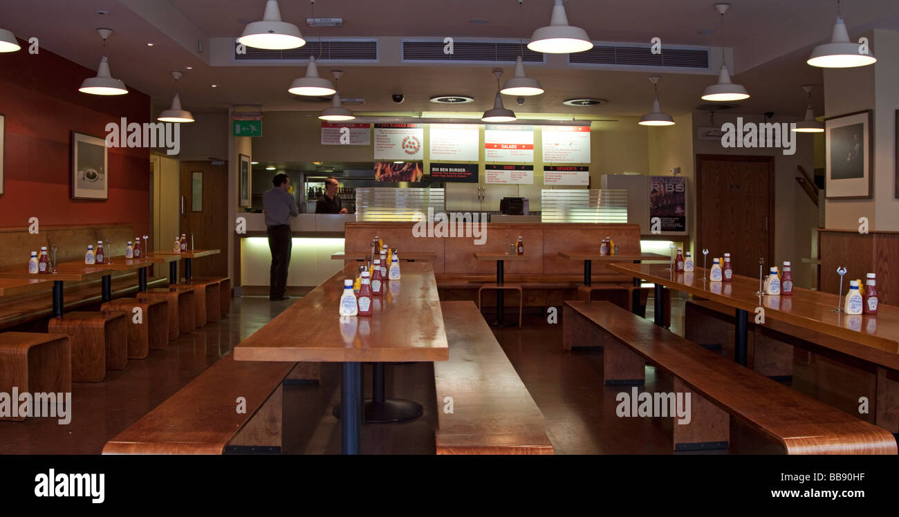 Gourmet Burger Kitchen - Soho - London Stock Photo: 24169643 - Alamy