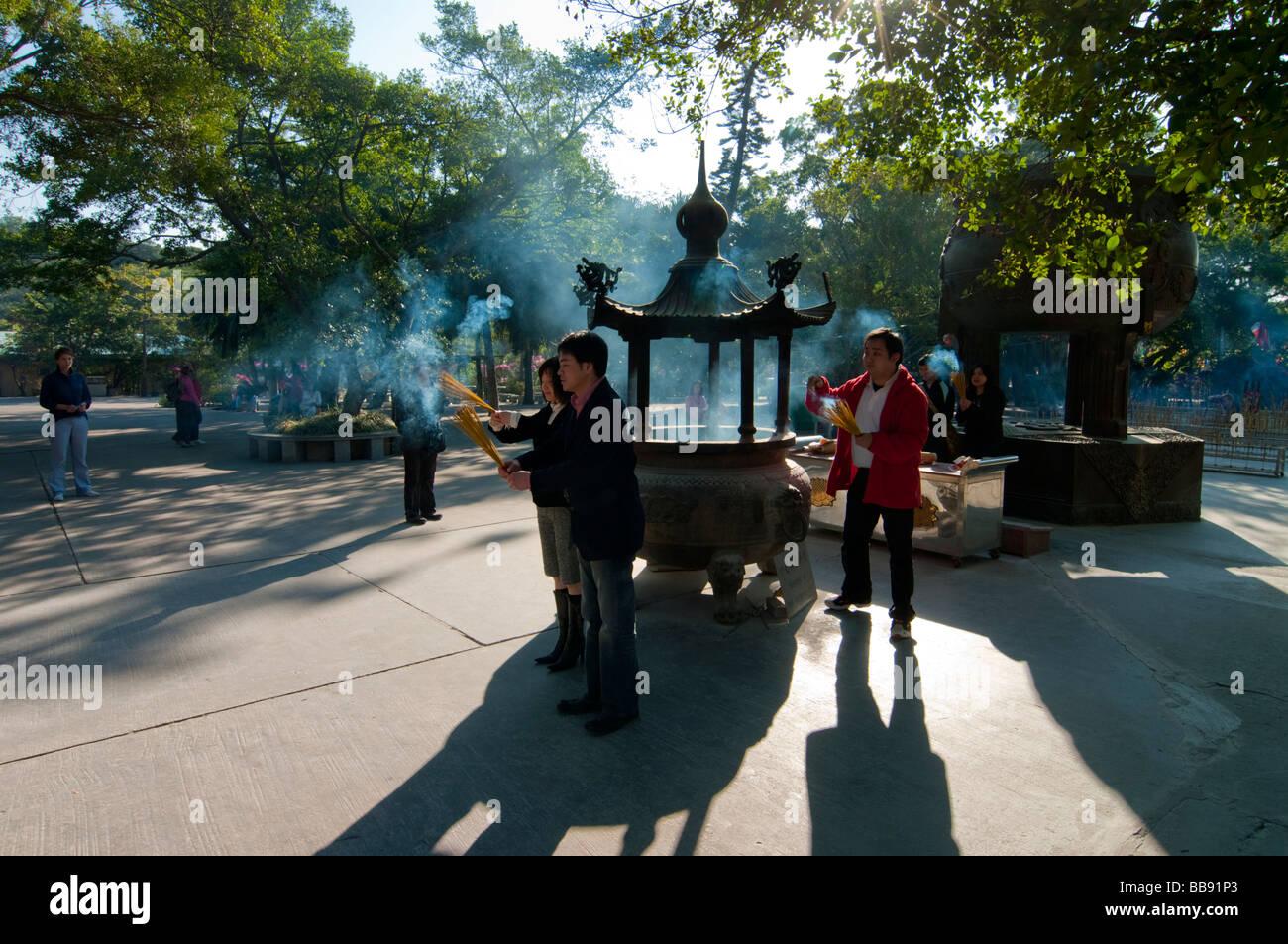 asia china hong kong Lantau Po Lin monastery urn 2008 - Stock Image