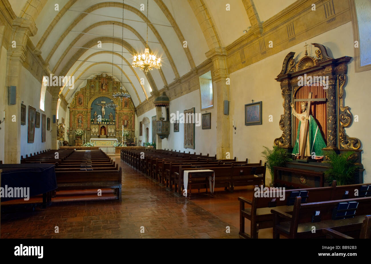 Monterey County, CA: The Carmel Mission Basilica (1797) - Mission San Stock  Photo - Alamy