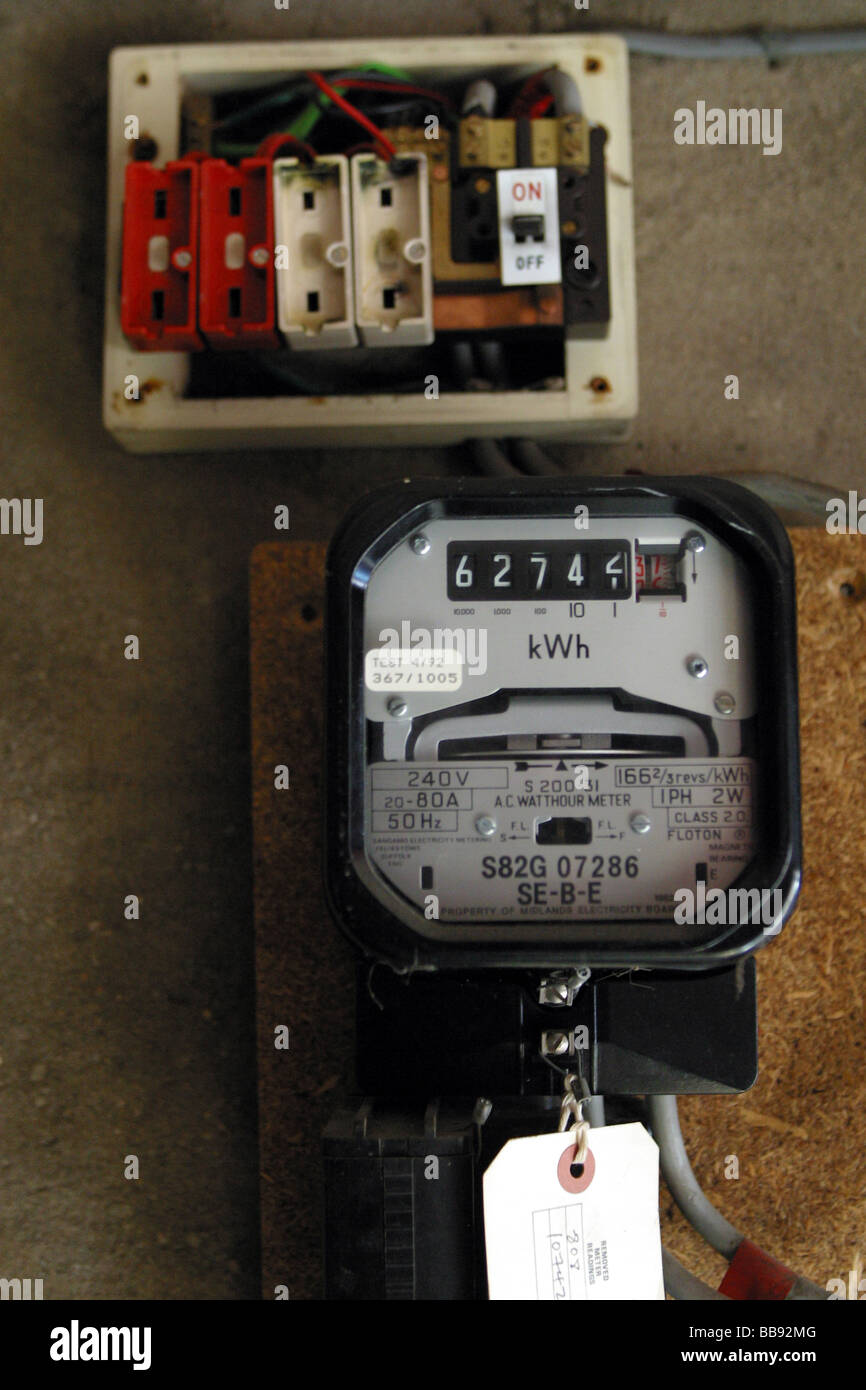 Old Style Electrical Fuse Boxes Data Wiring Diagrams Electric Panel Box Meter Stock Photos Images Rh Alamy Com For Homes