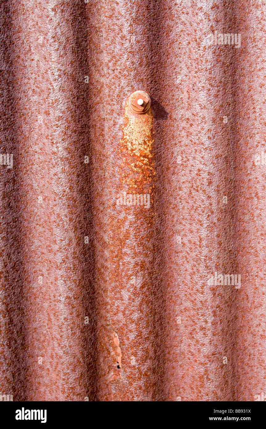 image of old rusty corrugated iton background - Stock Image