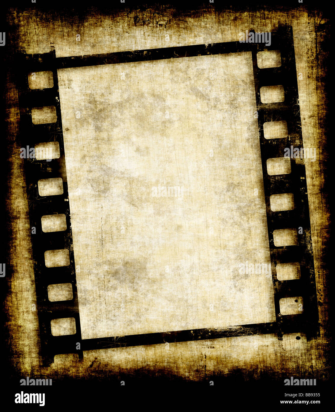 old grungy filmstrip or photo negative image - Stock Image