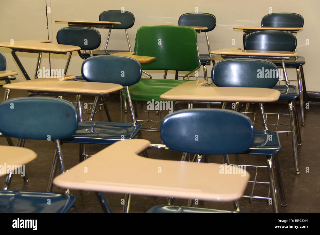 Empty school classroom with desks Stock Photo: 24172249 - Alamy