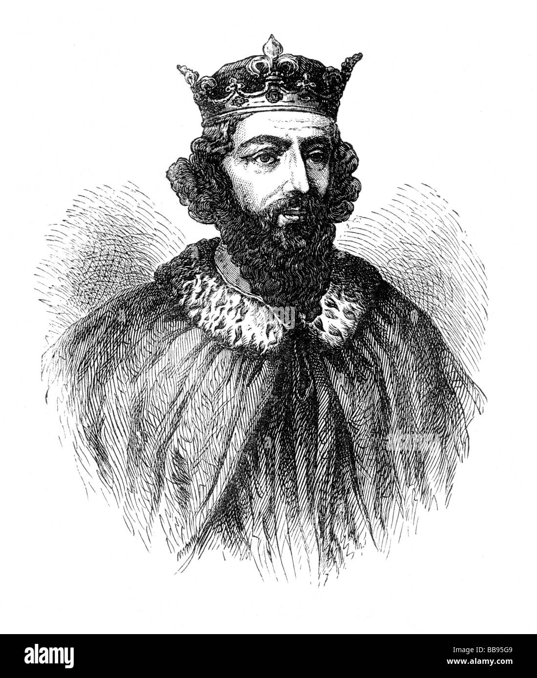 Alfred the Great King of Wessex from 871 to 899 Portrait Stock Photo